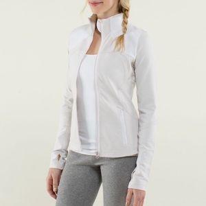 Lululemon Forme Jacket Dune White Size 8